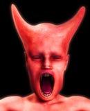 Schreckliches Monster-Gesicht Stockfoto