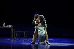 Schreeuw op de elkaars opera van schouderjiangxi een weeghaak Stock Fotografie