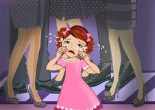 Schreeuwend Meisje stock illustratie
