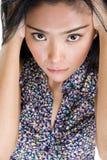 Schreeuwende Aziatische schoonheid royalty-vrije stock afbeelding