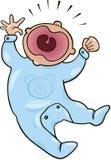 Schreeuwende baby Stock Afbeeldingen