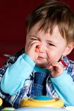 Schreeuwende babyjongen Stock Foto