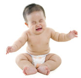 Schreeuwende babyjongen Stock Afbeeldingen