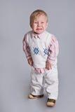 Schreeuwende babyjongen Royalty-vrije Stock Foto