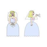 Schreeuwende bruid Stock Afbeelding