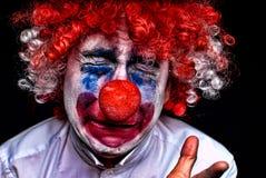 Schreeuwende droevige clown Stock Afbeelding