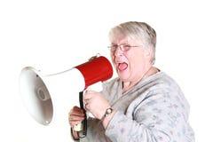 Schreeuwende grootmoeder Royalty-vrije Stock Afbeelding