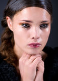 Schreeuwende jonge vrouw Royalty-vrije Stock Afbeeldingen