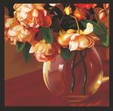 Schreeuwende rozen Royalty-vrije Stock Foto