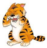 Schreeuwende uit de vrije hand tijger Royalty-vrije Stock Fotografie