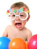 Schreeuwende Verjaardagsbaby royalty-vrije stock fotografie