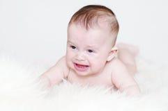 Schreeuwende vijf-maanden baby Stock Fotografie