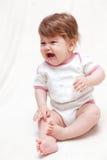 Schrei des kleinen Mädchens Stockfotos