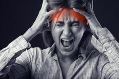 Schrei von Schmerz stockbilder