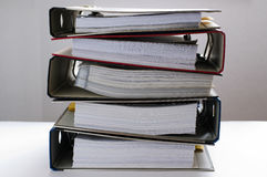 Schreibarbeit - Faltblätter 1 lizenzfreie stockfotos