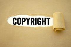 Schreibarbeit mit Copyright stockbilder