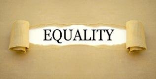 Schreibarbeit mit der Wortgleichheit lizenzfreie stockbilder