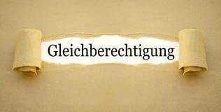 Schreibarbeit mit der Wortgleichheit lizenzfreies stockbild