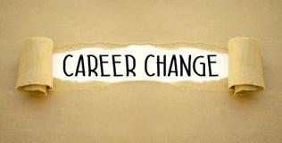 Schreibarbeit mit Karriereveränderung lizenzfreies stockbild