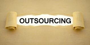 Schreibarbeit mit Outsourcing lizenzfreie stockbilder
