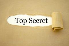 Schreibarbeit mit streng geheim lizenzfreies stockfoto