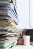 Schreibarbeit und Arbeitskraft Stockfoto