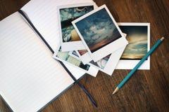 Schreiben über Speicher Stockfoto