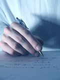 Schreiben 1 stockfotografie