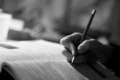 Schreiben Stockfoto