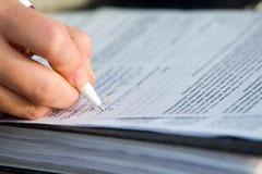 Schreiben Lizenzfreies Stockfoto