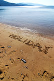 Schreiben auf den Sand Lizenzfreie Stockbilder