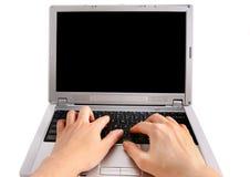 Schreiben auf der Tastatur Lizenzfreies Stockfoto