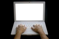 Schreiben auf Laptop 01 Lizenzfreies Stockfoto