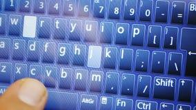 Schreiben auf Touch Screen Tabletten-PC stock video