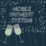 Schreiben der Anmerkung, die bewegliches Zahlungs-System zeigt Geschäftsfoto Präsentationszahlungsdienstleistung erbracht über tr stock abbildung