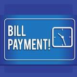 Schreiben der Anmerkung, die Bill Payment zeigt Präsentationsgeldüberweisung des Geschäftsfotos festgelegt auf vorbestimmtem Datu vektor abbildung