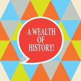 Schreiben der Anmerkung, die einen Reichtum der Geschichte zeigt Geschäftsfoto, das alte Kulturtraditionen der wertvollen alten G stock abbildung