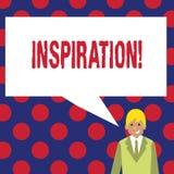 Schreiben der Anmerkung, die Inspiration zeigt Geschäftsfoto Präsentationsanregung, zum etwas zu glauben oder zu tun kreativ vektor abbildung