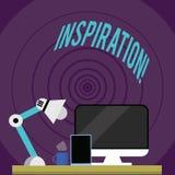 Schreiben der Anmerkung, die Inspiration zeigt Geschäftsfoto Präsentationsanregung, zum etwas zu glauben oder zu tun kreativ lizenzfreie abbildung