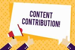 Schreiben der Anmerkung, die zufriedenen Beitrag zeigt Präsentationsbeitrag des Geschäftsfotos von Informationen zu irgendwelch lizenzfreie abbildung