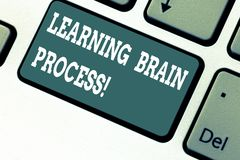 Schreiben der Anmerkungsvertretung, die Brain Process lernt Geschäftsfoto, das neues oder änderndes vorhandenes Wissen erwerbend  stockfotos