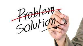 Schreiben der Lösung Stockfotos