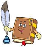 Schreiben des alten Buches mit Feder Lizenzfreies Stockbild