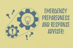Schreiben des Anmerkungsvertretung Notbereitschafts-und -warteberaters Die Geschäftsfotopräsentation wird für Notfallkette vorber lizenzfreie abbildung