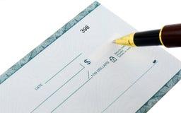 Schreiben des Checks Lizenzfreie Stockfotos