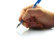 Schreiben des handgeschriebenen Textes Lizenzfreie Stockbilder