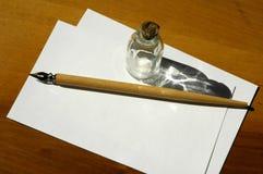 Schreiben des Sets Lizenzfreies Stockbild