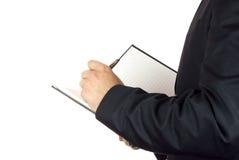 Schreiben einer Anmerkung Stockbilder