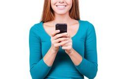 Schreiben einer Mitteilung für Sie Stockbild