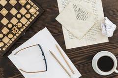 Schreiben eines Liebesbriefs Stockbild